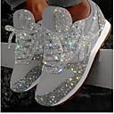 Χαμηλού Κόστους Παπούτσια χορού λάτιν-Γυναικεία Αθλητικά Παπούτσια Κρυφό τακούνι Στρογγυλή Μύτη Πούλιες Δίχτυ Καλοκαίρι Ασημί / Ροζ
