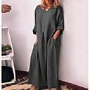 Χαμηλού Κόστους Ημέρα επιστροφής στο σπίτι-Γυναικεία T Shirt Φόρεμα - Μονόχρωμο Μακρύ