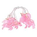 olcso Karácsonyi dekoráció-3m rózsaszín egyszarvú tündér húrfények 20 led fehér meleg party ünnep dekoratív 3 v 1 készlet