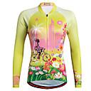 povoljno Biciklističke majice-Miloto Žene Dugih rukava Biciklistička majica Crvena žuta Bijela Cvjetni / Botanički Veći konfekcijski brojevi Bicikl Shirt Sportska majica Biciklistička majica Prozračnost Quick dry Reflektirajuće