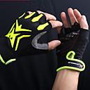 ราคาถูก ถุงมือปั่นจักรยาน-Mysenlan ถุงมือขี่จักรยาน ถุงมือสำหรับเสือภูเขา ขี่จักรยานปีนเขา ระบายอากาศ ป้องกันการลื่นล้ม Sweat-wicking Protective Fingerless ถุงมือแบบครึ่งมือ กิจกรรมและถุงมือสำหรับกีฬา เจลซิลิโคน ผ้าเทอร์รี่