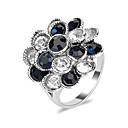 billige Crossbody-vesker-Dame Ring Syntetisk Diamant 1pc Sølv Legering Rund Avslappet / Sportslig Daglig Smykker Vintage Stil Blomst Smuk