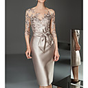 povoljno Slike za cvjetnim/biljnim motivima-Žene Elegantno Čipka Slim Bodycon Haljina Jednobojni Lađa izrez Do koljena