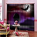 baratos Acessórios para ferramentas de cozinha-Simples e moderno dos desenhos animados pesadelo casa assombrada tema 100% poliéster blackout cortina da janela