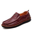 billiga Slip-ons och loafers till herrar-Herr Mockasin Läder Sommar Affär / Ledigt Loafers & Slip-Ons Andningsfunktion Svart / Mörkbrun / Vinröd / Kontor & Karriär