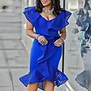Χαμηλού Κόστους Εξτένσιον από Ανθρώπινη Τρίχα-Γυναικεία Εφαρμοστό Φόρεμα - Μονόχρωμο Ως το Γόνατο