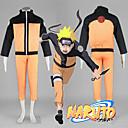 Χαμηλού Κόστους Συνθετικές περούκες χωρίς σκουφί-Εμπνευσμένη από Naruto Naruto Uzumaki Anime Στολές Ηρώων Ιαπωνικά Κοστούμια Cosplay Patchwork Μακρυμάνικο Επίστρωση / Παντελόνια Για Ανδρικά / Γυναικεία