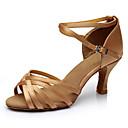 Χαμηλού Κόστους Παπούτσια χορού λάτιν-Γυναικεία Παπούτσια Χορού Σατέν Παπούτσια χορού λάτιν Τακούνια Λεπτή ψηλή τακούνια Εξατομικευμένο Δερματί / Επίδοση