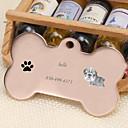 baratos Acessórios para animais de estimação gravados-Personalizado Personalizado Buldogue Pet Tags Clássico Presente Diário 1pcs Dourado Prata Rosa Dourado