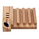 baratos Roupas de Dança de Salão-suporte de carregamento de madeira de bambu da tabuleta do usb do telefone móvel