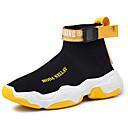 Χαμηλού Κόστους Αντρικά Αθλητικά-Ανδρικά Υπαίθρια πάνινα παπούτσια Φουσκωτό πηνίο Ανοιξη καλοκαίρι Καθημερινό Αθλητικά Παπούτσια Αναπνέει Σύνθημα Μαύρο και Άσπρο / Μαύρο / Κίτρινο / Άσπρο / Κίτρινο