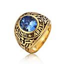 billige Herreringer-Herre Band Ring Ring 1pc Rød Grønn Blå Titanium Stål Sirkelformet Vintage Grunnleggende Mote Daglig Smykker Totem Serier Bokstaver Kul
