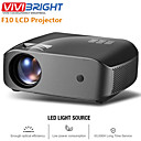 cheap Projectors-VIVIBRIGHT F10/F10UP MINI Projector 1280*720P,2800 Lumens Android WIFI LCD LED Proyector Support 1080P 3D HD Video Beamer Home Entertainment Cinema Video, New HDMI USB Video Beamer