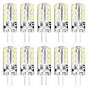 povoljno LED Bi-pin svjetla-10pcs 3 W LED svjetla s dvije iglice 3000 lm G4 T 24 LED zrnca SMD 2835 New Design Toplo bijelo Bijela 12 V