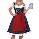 billige Undertøy og sokker til jenter-Karneval Oktoberfest Dirndl Trachtenkleider Dame Kjole Forkle bayerske Kostume Rød