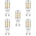 Χαμηλού Κόστους Μοδάτο Βραχιόλι-5pcs 3 W LED Λάμπες Καλαμπόκι LED Φώτα με 2 pin 300 lm G9 T 33 LED χάντρες SMD 4014 Θερμό Λευκό Άσπρο 220-240 V