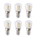 Χαμηλού Κόστους Λάμπες Σφαίρα LED-6pcs 3 W LED Λάμπες Σφαίρα 300 lm E14 26 LED χάντρες SMD 2835 Θερμό Λευκό Άσπρο 220-240 V
