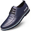 baratos Oxfords Masculinos-Homens Sapatos Confortáveis Microfibra Outono & inverno Oxfords Preto / Marron / Azul