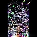 ราคาถูก เชิงเทียนติดผนัง-10 เมตรไฟสตริง 100 leds วอร์มสีขาวสีขาวสีฟ้ากันน้ำตกแต่งลวดทองแดงเส้นสีเงินแบตเตอรี่ aa ขับเคลื่อน 1 ชิ้น