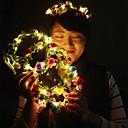 billiga Dekor och nattlampa-1 st dekoration ljus härlig ljus krans för julfest färgglada halloween krans blomma pannband för kvinnor flickor led hår krona hår kransar