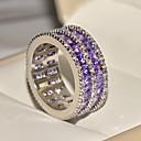Χαμηλού Κόστους Μοδάτο Δαχτυλίδι-Γυναικεία Band Ring Cubic Zirconia 1pc Μπλε Απαλό S925 Sterling Silver Κράμα Circle Shape Κλασσικό Βίντατζ Κομψό Γάμου Αρραβώνας Κοσμήματα Πεπαλαιωμένο Στυλ Λουλούδι Lovely