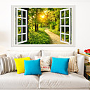 baratos Adesivos de Parede-adesivos de parede floresta sol - animais adesivos de parede animais / paisagem sala de estudo / escritório / sala de jantar / cozinha