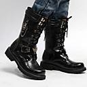 ราคาถูก รองเท้าบูตผู้ชาย-สำหรับผู้ชาย Fashion Boots PU ฤดูร้อนฤดูใบไม้ผลิ / ฤดูใบไม้ร่วง & ฤดูหนาว วินเทจ / ไม่เป็นทางการ บูท ไม่ลื่นไถล บู้ทสูงระดับกลาง สีดำ