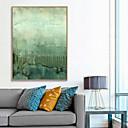 Χαμηλού Κόστους Αφηρημένοι Πίνακες-Εκτύπωση Τέχνης σε Κορνίζα Καμβάς σε Κορνίζα Πριντ - Αφηρημένο Πολυστυρένιο Ελαιογραφία Wall Art