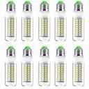 זול נורות לד תירס-10pcs 13 W נורות תירס לד 1300 lm E14 GU10 B22 T 89 LED חרוזים SMD 5730 עיצוב חדש לבן חם לבן 220-240 V 110-120 V