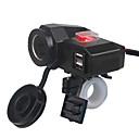 baratos Pulseira-5 v 3.1a dual usb carregador de motocicleta isqueiro guiador braçadeira de montagem com interruptor para iphone samsung e xiaomi telefones celulares