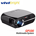 cheap Projectors-vivibright GP100 LCD LED Projector 3500 lm Support 1080P (1920x1080) 28~280 inch