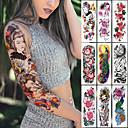 ราคาถูก สติกเกอร์แทททู-1 ชิ้นขนาดใหญ่แขนแขนสักญี่ปุ่นเกอิชางูกันน้ำชั่วคราว t atto สติ๊กเกอร์โลตัสนกยูงสาว tatoo ศิลปะร่างกายผู้หญิง