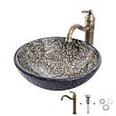 ราคาถูก อ่างล้างมือ-อ่างล้างหน้า / ก๊อกน้ำในห้องน้ำ / Bathroom Mounting Ring ของโบราณ - กระจกไม่แตกละเอียด รอบ Vessel Sink