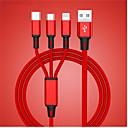 billige Bil-lader-usb-kabel for iphone xs x 8 7 6 ladelader 3 i 1 mikro usb-kabel for android usb typec mobiltelefon kabler for samsung s9