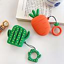billige Tilbehør til hodetelefoner-Beskyttelsesdeksel søt stil Apple Airpods Støtsikker Ripesikker Silikon Gummi