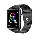 baratos Ferragens para Portas e Fechaduras-A1 relógio de pulso bluetooth smart watch esporte pedômetro suporte sim tf cartão para android smartphone smartwatch