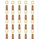 billige Vifte-loende barisc vinflaskelys med kork 20 pakker ledet fe lys batteri 2m 20 lys sølv kobbertråd vanntett