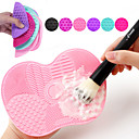 baratos Camisas & Shorts/Calças de Ciclismo-Pincel de maquiagem almofada de limpeza com ventosa almofada de esfrega de silicone ferramentas de beleza escova de maquiagem artefato de limpeza