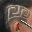 Χαμηλού Κόστους Πλεξούδες μαλλιών-επαγγελματική μαγεία χαραγμένο γενειάδα μαλλιά ψαλίδι φρύδι χαράξει στυλό τατουάζ κουρέας κομμωτήριο ψαλίδι φρύδι κεφαλής λάξευση