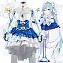 billiga Anime/Cosplay-peruker-Inspirerad av Vocaloid Snö Miku 2018 Animé Cosplay-kostymer Japanska cosplay Suits Klänning / Sjal / Strumpor Till Dam