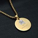 baratos Acessórios para animais de estimação gravados-Personalizado Personalizado Cachorrinho Pet Tags Clássico Presente Diário 1pcs Dourado Prata