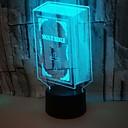 Χαμηλού Κόστους Σχάρες Κρασιών-1pc 3D Nightlight RGB USB Αλλάζει Χρώμα / Με θύρα USB <5 V