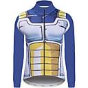 povoljno Anime kostimi-21Grams Dragon Ball Muškarci Dugih rukava Biciklistička majica - Tamno plava Bicikl Biciklistička majica Majice UV otporan Prozračnost Ovlaživanje Sportski Zima Runo 100% poliester Brdski biciklizam