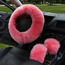 baratos Capas para Volante-cobertura de volante de carro de inverno cobertura de volante de couro de lã aquecida