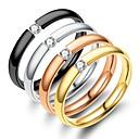 billige Motering-Herre Dame Band Ring Ring Tail Ring 1pc Svart Sølv Rose Gull Rustfritt Stål Sirkelformet Vintage Grunnleggende Mote Daglig Smykker