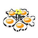 Χαμηλού Κόστους Μοδάτο Βραχιόλι-5pcs από ανοξείδωτο χάλυβα χαριτωμένο σχήμα τηγανητό αυγό φόρμες κέικ καλούπι εργαλείο κουζίνας
