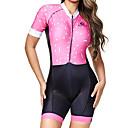 Χαμηλού Κόστους Παιδικά πέδιλα-BOESTALK Γυναικεία Κοντομάνικο Ολόσωμη στολή για τρίαθλο Ροζ Ριγέ Ποδήλατο Αναπνέει Ύγρανση Γρήγορο Στέγνωμα Ανατομικός Σχεδιασμός Πίσω τσέπη Αθλητισμός Spandex Ριγέ Ποδηλασία Βουνού Ποδηλασία Δρόμου
