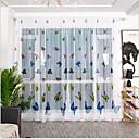 Χαμηλού Κόστους Wall Ταπετσαρίες-Λουλουδάτο Ένα Πάνελ Διαφανές Παιδικό Δωμάτιο   Curtains