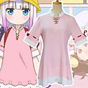 povoljno Anime kostimi-Inspirirana Miss Kobayashi's Dragon Maid Kostimi sluškinje Anime Cosplay nošnje Japanski Cosplay Suits Haljina / Čarape Za Žene