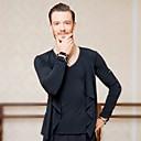 povoljno Odjeća za latino plesove-Latino ples Majice Muškarci Trening Šifon Kombinacija materijala Top